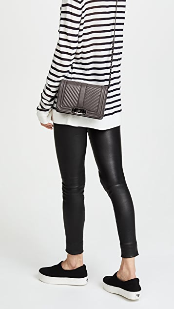 sports shoes sale usa online huge inventory Rebecca Minkoff Chevron Small Quilted Love Cross Body Bag | SHOPBOP