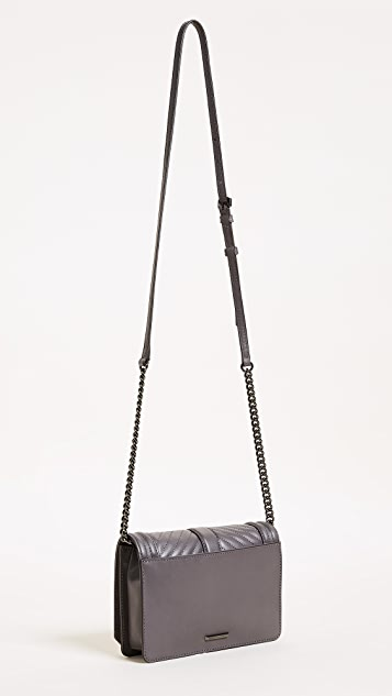 Rebecca Minkoff Chevron Small Quilted Love Cross Body Bag