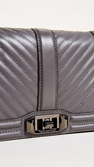 a1ca57371d ... Rebecca Minkoff Chevron Small Quilted Love Cross Body Bag ...