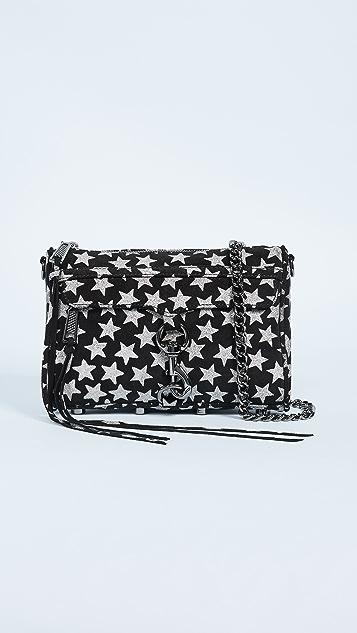 Rebecca Minkoff Glitter Star Mini Mac Cross Body Bag