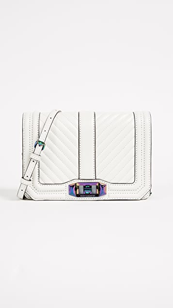 Rebecca Minkoff Chevron Small Quilted Love Cross Body Bag