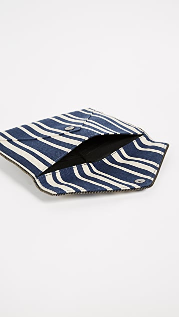 Rebecca Minkoff Striped Leo Clutch