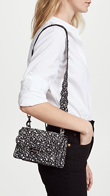 Rebecca Minkoff Christy Small Shoulder Bag with Floral Cutouts