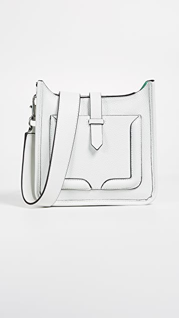 Rebecca Minkoff Mini Unlined Feed Bag - Bianco/Green