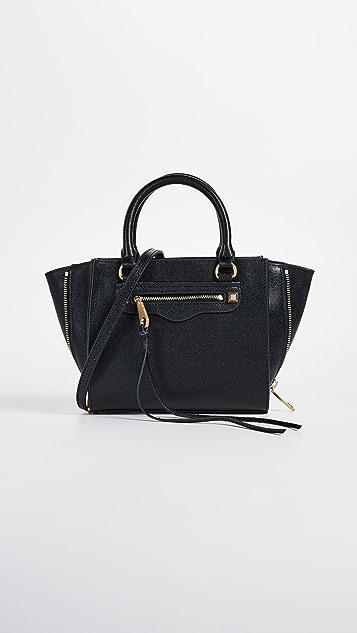 Rebecca Minkoff Side Zip Mini Regan Tote Bag - Black