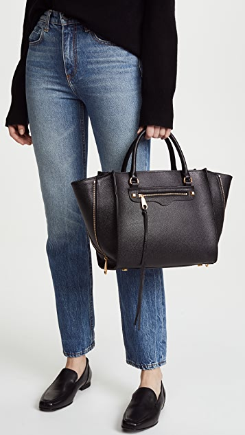 Rebecca Minkoff Side Zip Medium Regan Satchel Tote