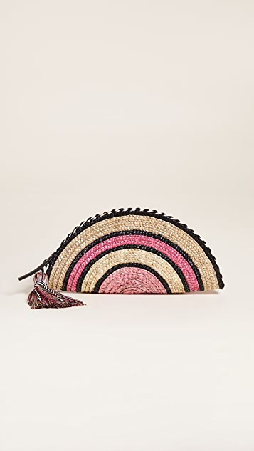 Rebecca Minkoff Straw Taco Clutch - Pink Multi