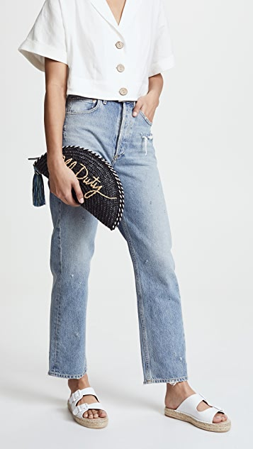 Rebecca Minkoff Straw Taco Off Duty Clutch