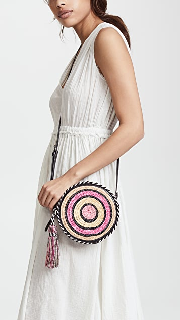 Rebecca Minkoff Straw Circle Cross Body Bag