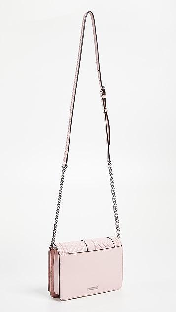 Rebecca Minkoff Chevron Quilted Small Love Cross Body Bag
