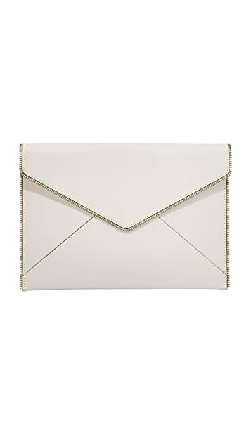Rebecca Minkoff Leo Clutch with Contrast Stitching