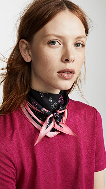 Rebecca Minkoff Pressed Flowers Diamond Scarf - Black