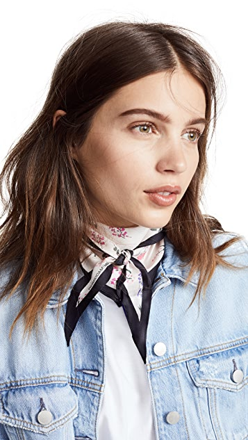 Rebecca Minkoff Pressed Flowers Diamond Scarf