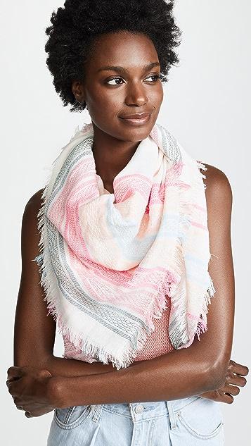 Rebecca Minkoff Textured Stripe Square Scarf