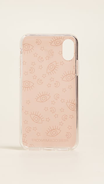 Rebecca Minkoff Metallic Galaxy Icons iPhone X Case