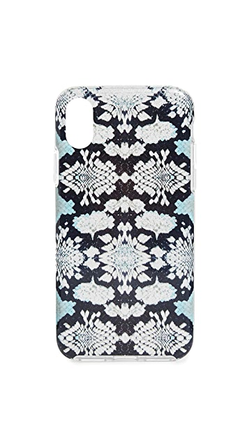 Rebecca Minkoff Snake Skin iPhone X Case with Glitter