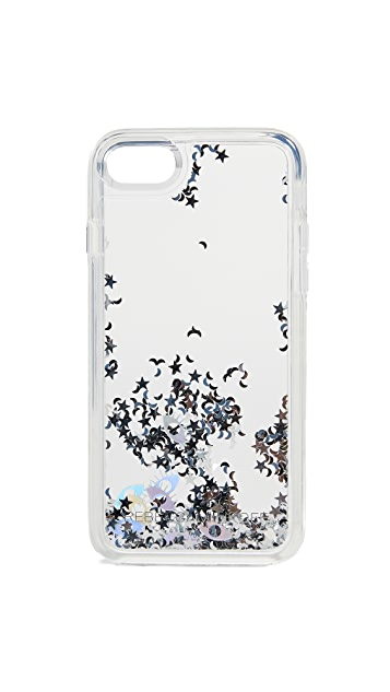 Rebecca Minkoff Galaxy Icons iPhone X Case with Glitterfall