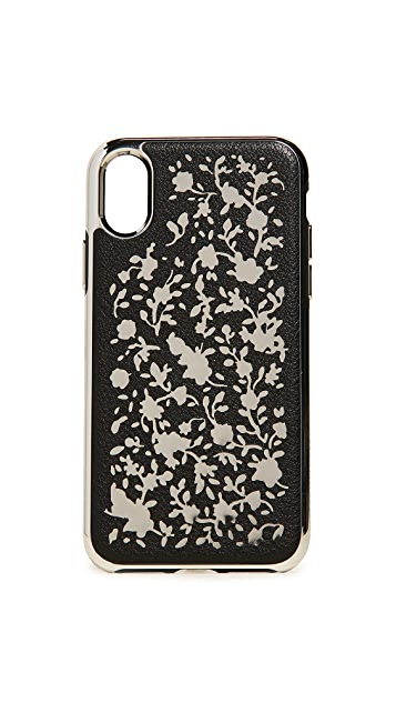 Rebecca Minkoff Ditsy Floral Laser Cut iPhone X Case