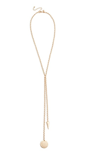 Rebecca Minkoff Medallion Double Drop Y Necklace