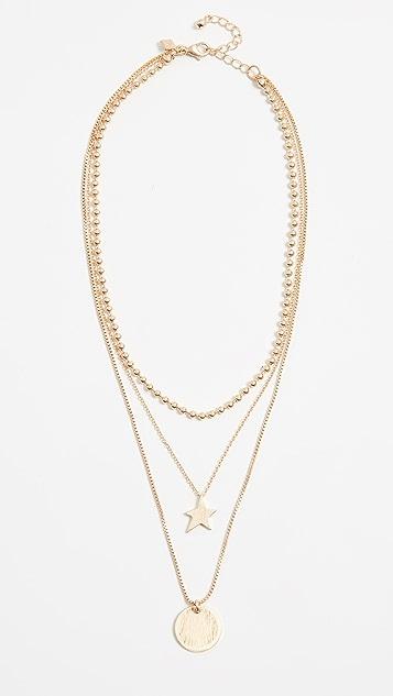 Rebecca Minkoff Medallion Layered Delicate Necklace