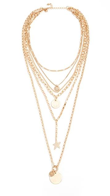 Rebecca Minkoff Medallion Layered Statement Necklace