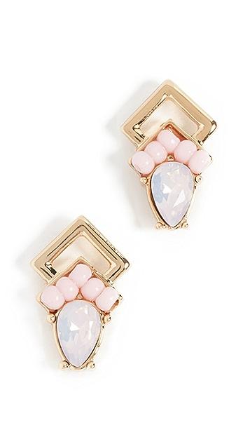 Rebecca Minkoff Geo Double Drop Pear Earrings