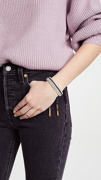 Rebecca Minkoff Striped Seed Beads Friendship Bracelet