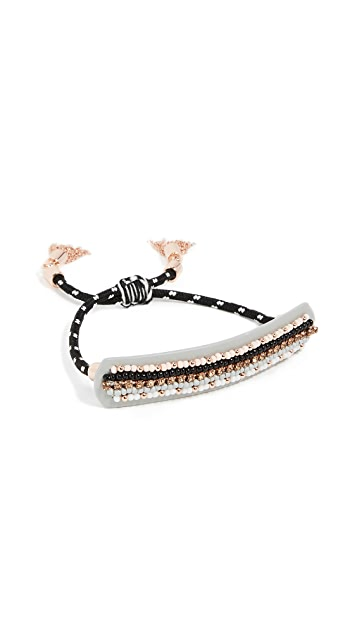 Rebecca Minkoff Striped Seed Beads Friendship Bracelet