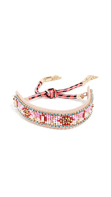 Rebecca Minkoff Patterned Seed Bead Friendship Bracelet
