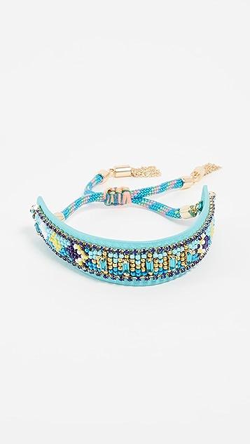 Rebecca Minkoff Zigzag Seed Bead Friendship Bracelet