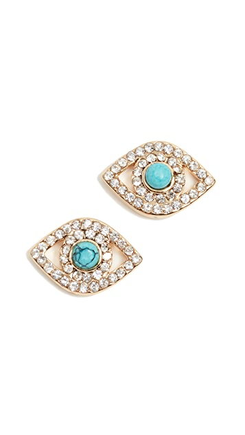 Rebecca Minkoff Evil Eye Earrings