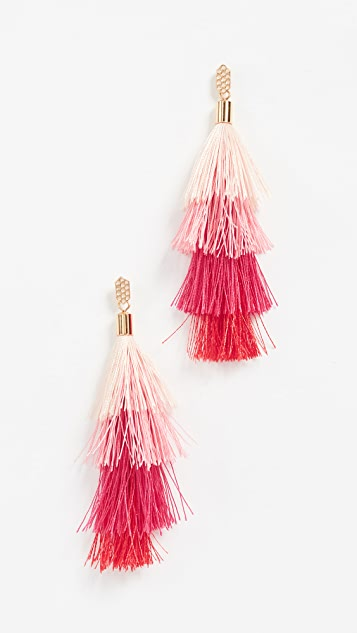 Rebecca Minkoff Stacked Tassel Earrings