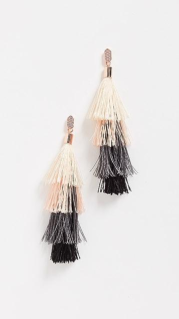 Rebecca Minkoff Stacked Tassel Earrings