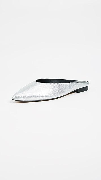 Rebecca Minkoff Rikki Point Toe Slides - Silver