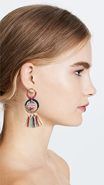 Rebecca Minkoff Blair Beaded Ball Statement Earrings
