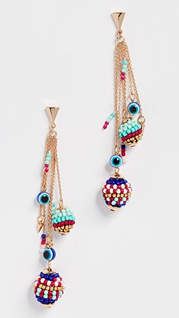 Rebecca Minkoff Blair Beaded Ball Cluster Earrings