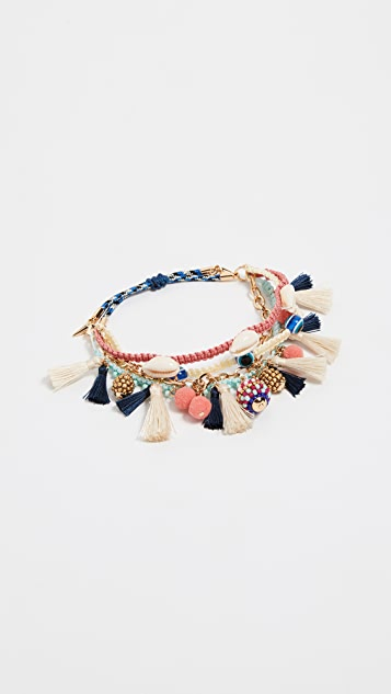 Rebecca Minkoff Blair Bracelet with Beaded Charm Clusters