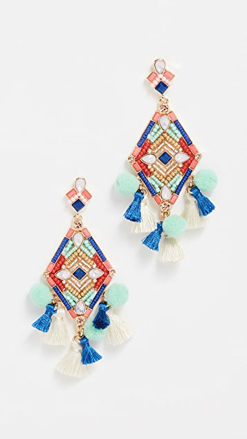 Geo Stone Statement Earrings by Rebecca Minkoff