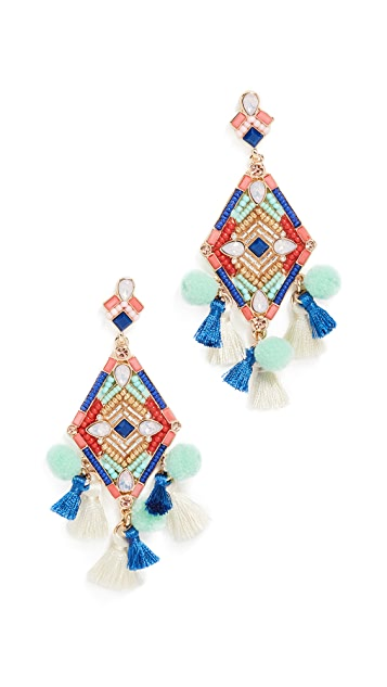 Rebecca Minkoff Geo Stone Statement Earrings