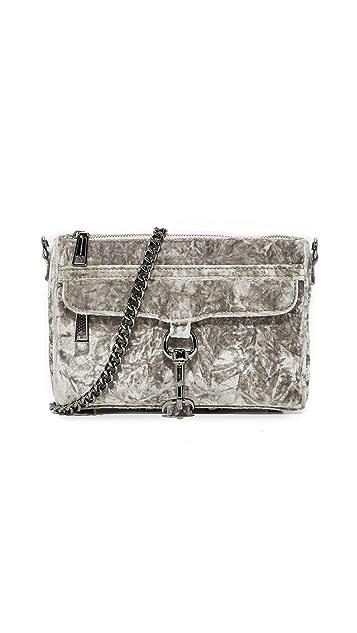 Rebecca Minkoff Crushed Velvet Mini Mac Bag