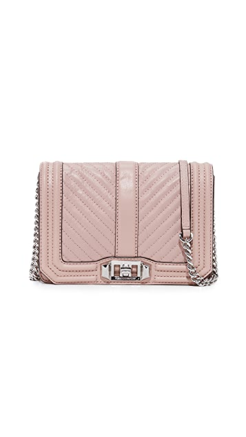 Rebecca Minkoff Chevron Quilted Small Love Cross Body Bag