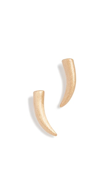 Rebecca Minkoff Mini Golden Horn Stud Earrings