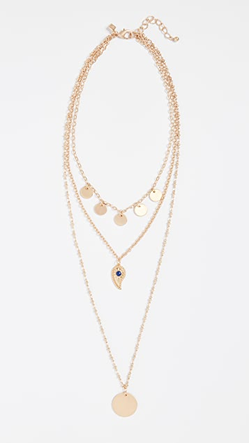 Rebecca Minkoff Triple Layer Paisley Necklace