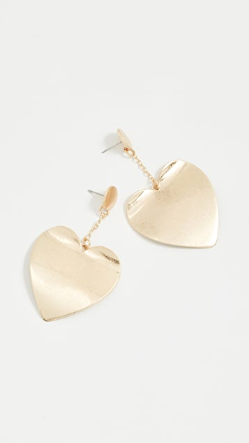 Rebecca Minkoff Sadie Heart Drop Earrings