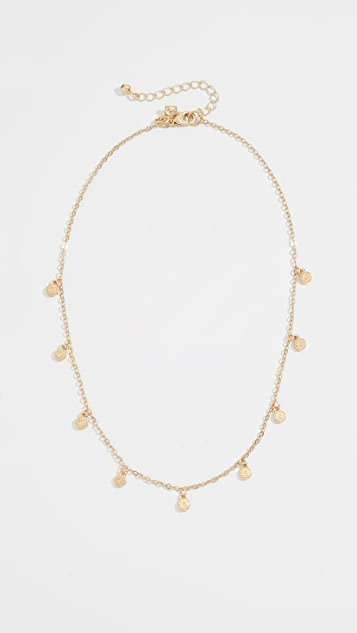 Rebecca Minkoff Etched Coins Droplet Necklace