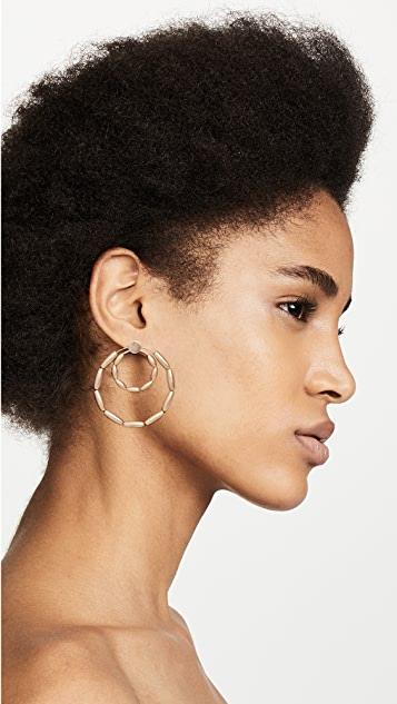Rebecca Minkoff Sadie Front Facing Double Hoops