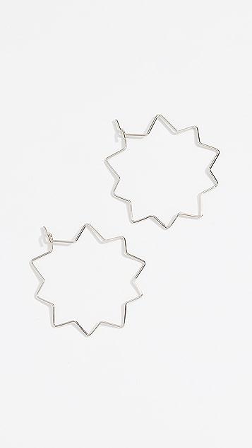 Rebecca Minkoff Pow Wire Hoop Earrings