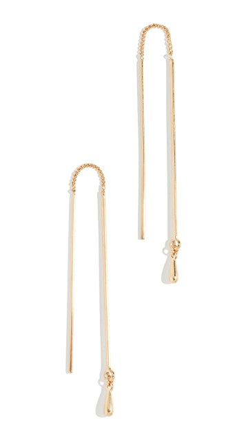 Rebecca Minkoff Long Teardrop Threader Earrings