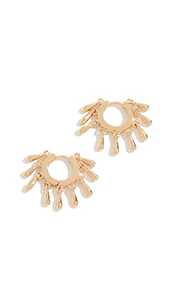 Rebecca Minkoff Multi Teardrop Huggie Earrings