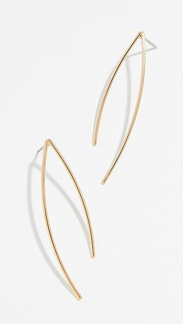 Rebecca Minkoff Clean Lines Wishbone Earrings